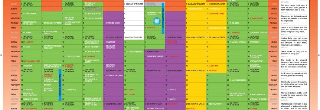 Liturgical Calendar 2015-16